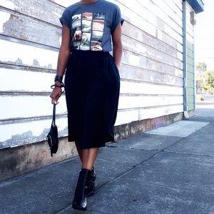 Grana Silk Full Skirt Black